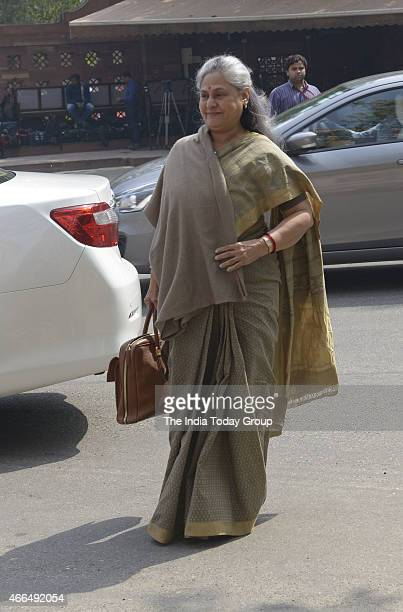 Jaya Bachchan at Parliament during Parliament Budget Session