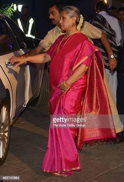 Jaya Bachchan at Rahul Thackeray and DrAditi's wedding reception in Mumbai