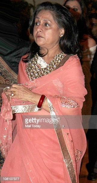 Jaya Bachchan at the 10th Wedding Anniversary Party of Akshay Kumar and Twinkle Khanna