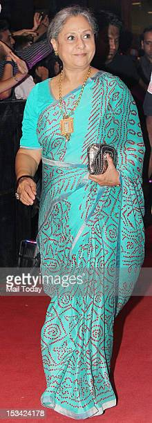 Jaya Bachchan during the premiere of the movie 'English Vinglish' held at PVR Cinema in Mumbai on October 4 2012
