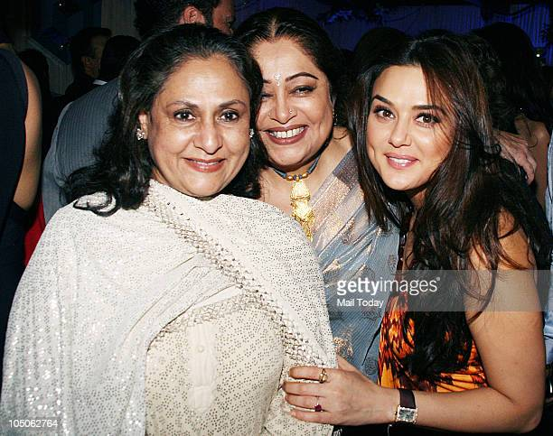 Jaya Bachchan Kirron Kher and Preity Zinta at Day II of the HDIL Couture fashion week in Mumbai on October 7 2010