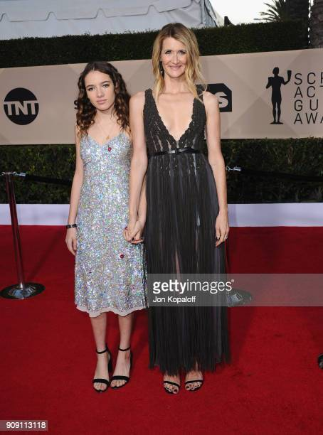 Jaya Harper and actor Laura Dern attend the 24th Annual Screen Actors Guild Awards at The Shrine Auditorium on January 21 2018 in Los Angeles...