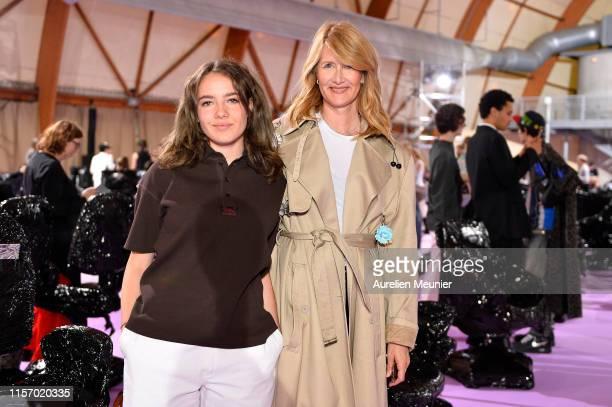 Jaya Harper and Laura Dern attend the Raf Simons Menswear Spring Summer 2020 show as part of Paris Fashion Week on June 19, 2019 in Paris, France.