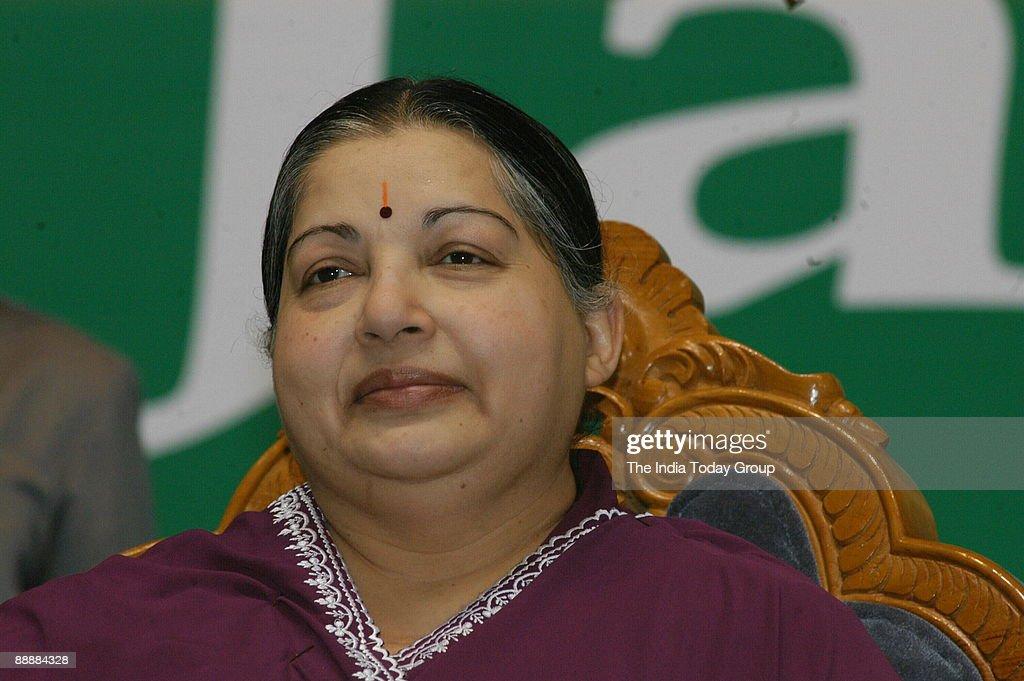 J Jayalalitha, Chief Minister of Tamil Nadu ( DIGICAM-IT USED 23/05/2005 ) : News Photo