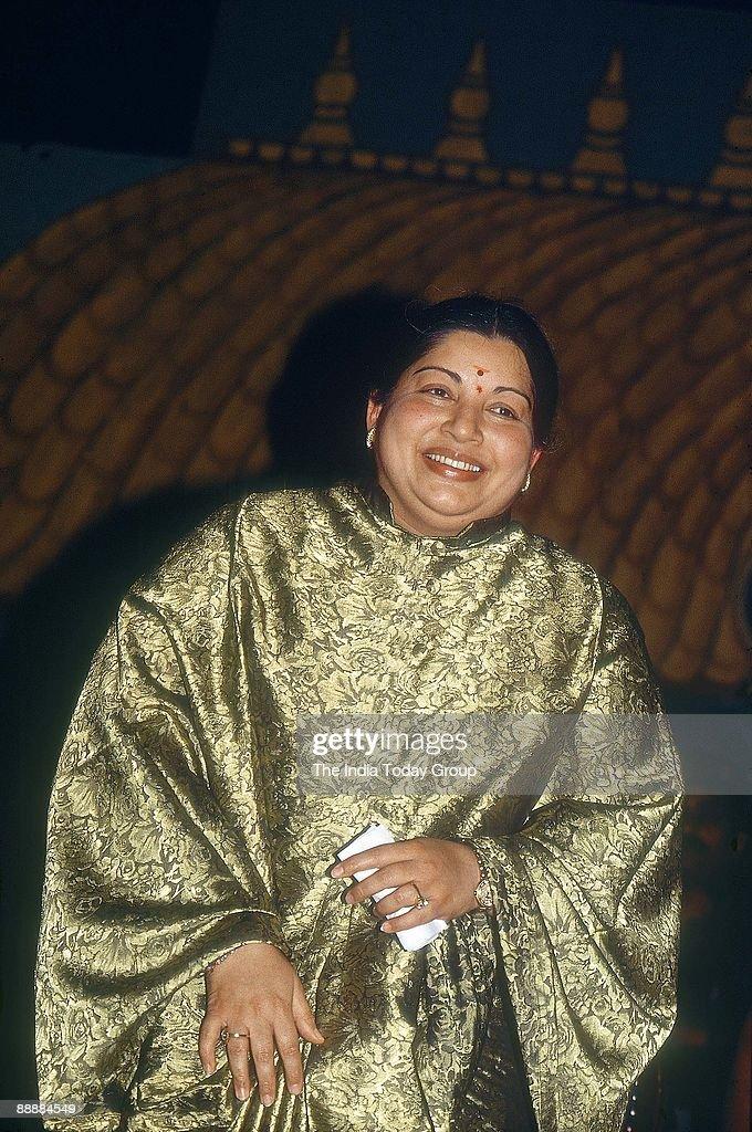 J Jayalalitha, Chief Minister of Tamil Nadu ( AIADMK, Portrait ) : News Photo