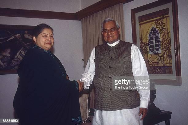 Jayalalitha Chief Minister of Tamil Nadu with Atal Bihari Vajpayee