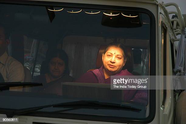 Jayalalithaa Chief Minister of Tamil Nadu Campaigning in Cuddalore area during assembly election Tamil Nadu India