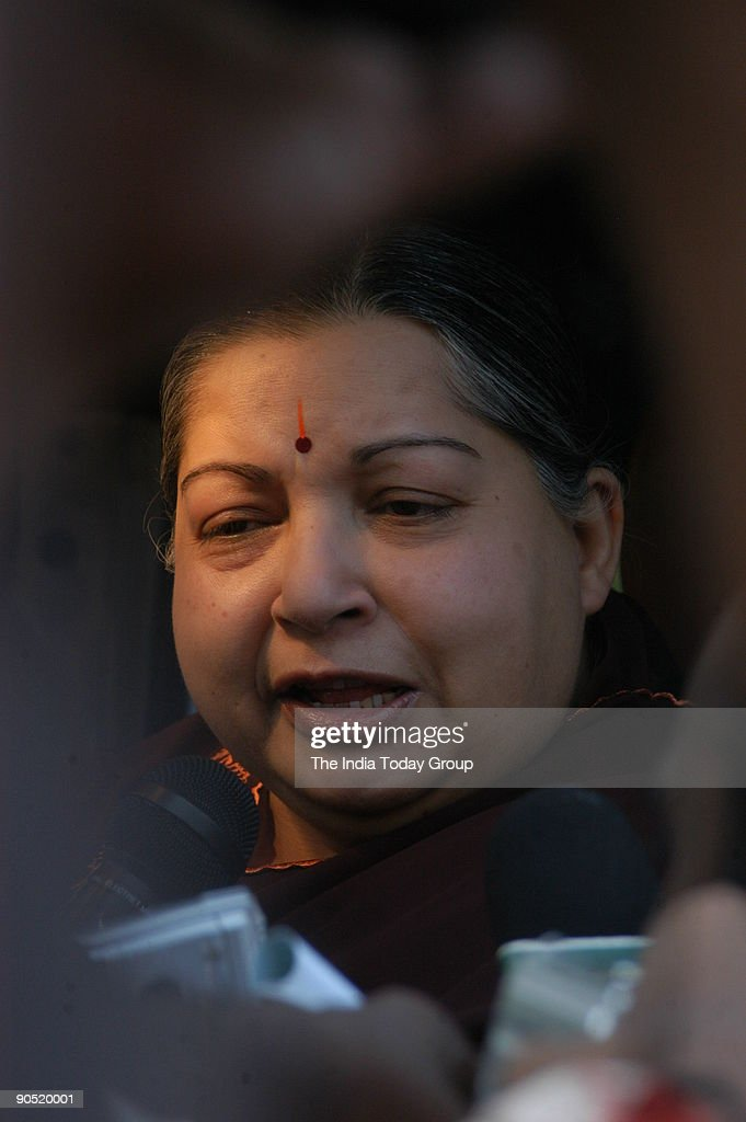 J Jayalalithaa, Chief Minister of Tamil Nadu Campaigning in Madurai area during assembly election, Tamil Nadu, India : News Photo