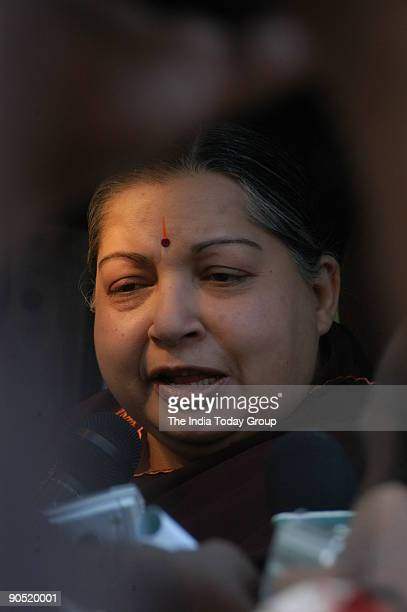Jayalalithaa Chief Minister of Tamil Nadu Campaigning in Madurai area during assembly election Tamil Nadu India