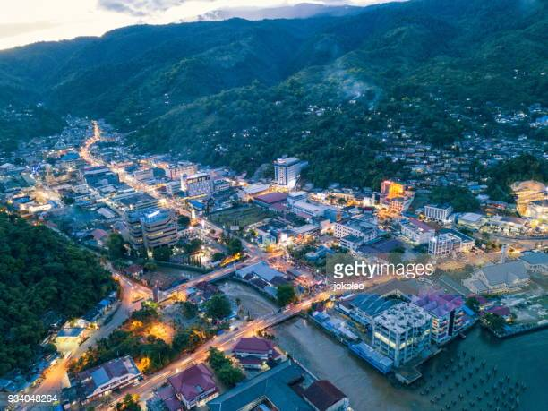 jayapura city at night - papua province indonesia stock pictures, royalty-free photos & images
