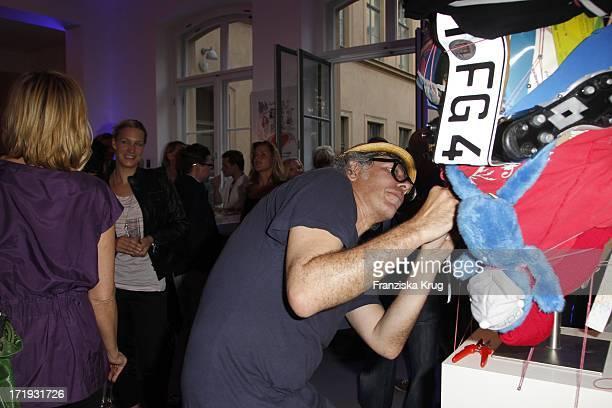 Jaybo Monk Bei Der Vernissage Night Of The Heart In Der Galerie Morgen In Berlin Am