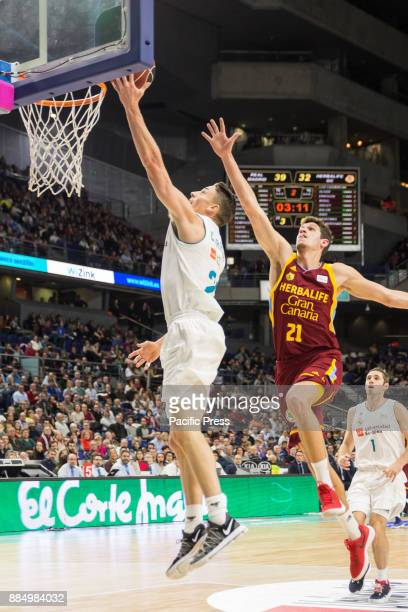 Jaycee Carroll during Real Madrid victory over Herbalife Gran Canaria in Liga Endesa regular season game celebrated in Madrid at Wizink Center...