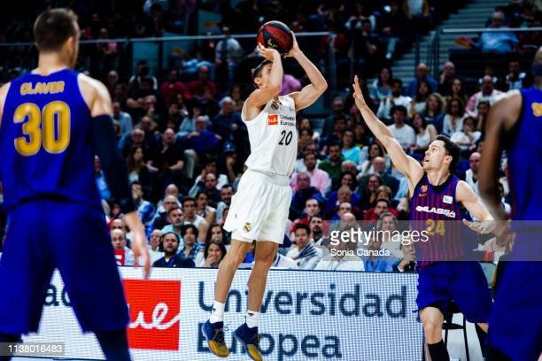 Jaycee Carroll during the Liga Endesa match between Real Madrid and FC Barcelona Lassa at Wizink Center on March 24 2019 in Madrid Spain