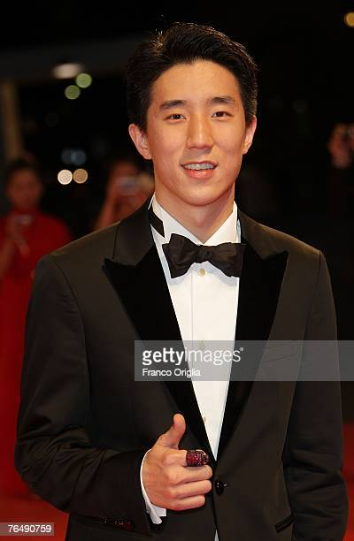 Jaycee Chan attends Taiyang Zhaochang Shengqi premiere in Venice during day 6 of the 64th Venice Film Festival on September 3 2007 in Venice Italy