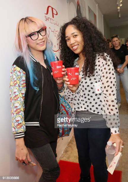 Jaycee Kawaii attends PUMA x Hello Kitty Launch Event At Shoe Palace LA on February 2 2018 in Los Angeles California