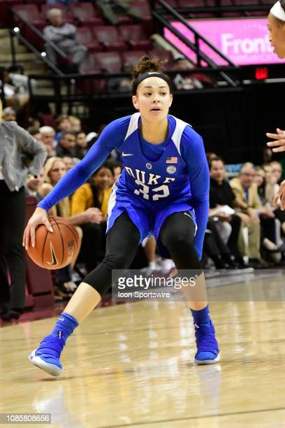 Jayda Adams guard Duke University Blue Devils dribbles the basketball against the Florida State University Seminoles in an Atlantic Coast Conference...