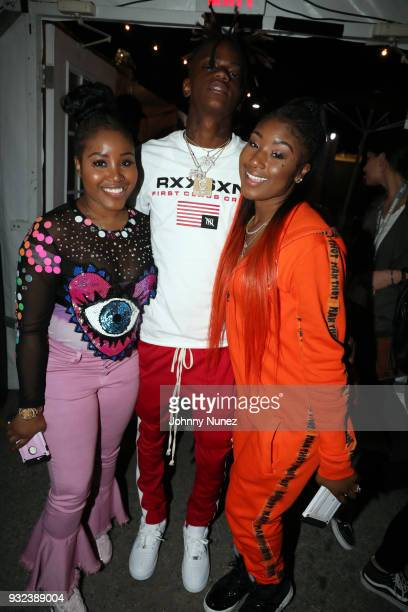 JayDaYoungan and Taylor Girlz attend Pandora SXSW 2018 on March 14 2018 in Austin Texas