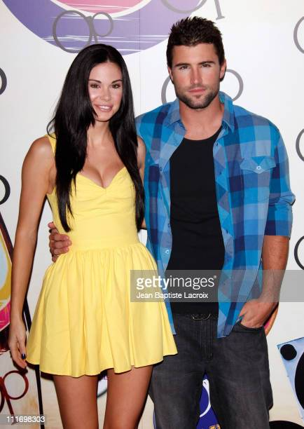 Jayde Nicole and Brody Jenner arrive at the launch of the new OP campaign OPen Campus at Mel's Dinner on July 7 2009 in West Hollywood California