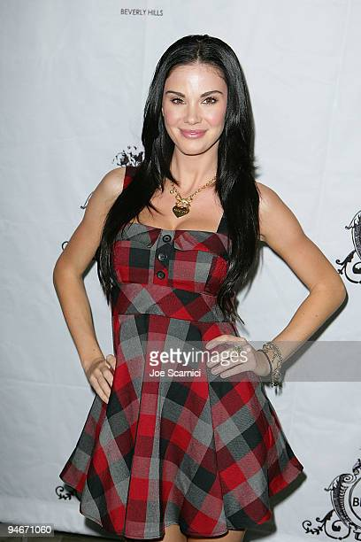 Jayde Nicole arrives at Sparkles In Their Eyes Holiday Charity Event by Crystal Ice Jewelry at Villa Blanca on December 16 2009 in Beverly Hills...