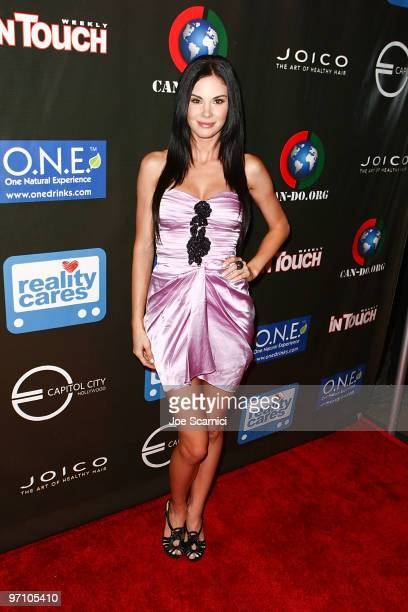 Jayde Nicole arrives at the In Touch Weekly And Reality Cares' Heroes For Haiti Hollywood Fundraiser at Capitol City on February 25 2010 in Los...