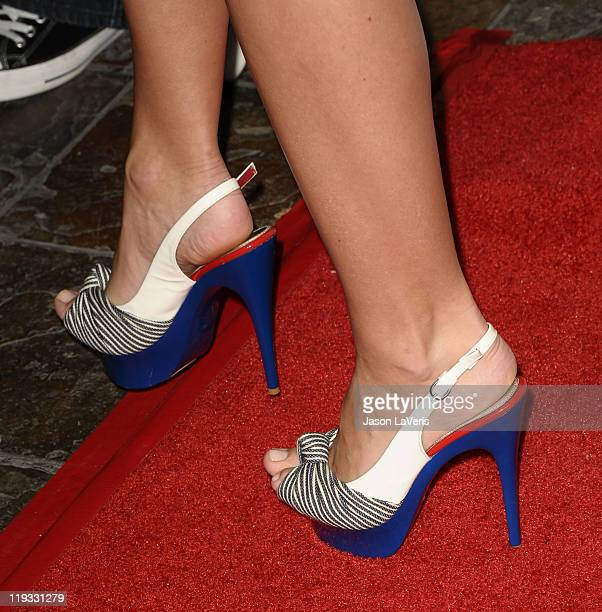 Jayde Nicole attends the 5th annual Celebrity Bowl at Lucky Strike Bowling Alley on July 14 2011 in Hollywood California