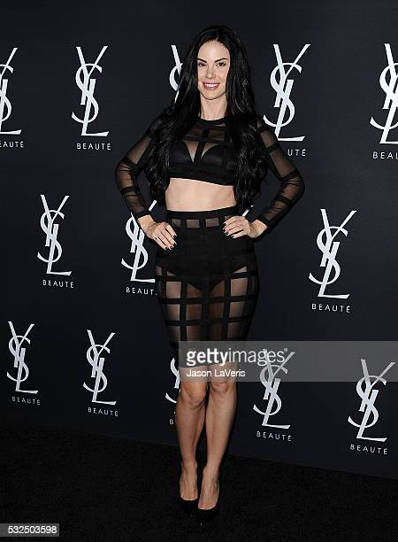 Jayde Nicole attends the Yves Saint Laurent Beauty event at Gibson Brands Sunset on May 18 2016 in Los Angeles California