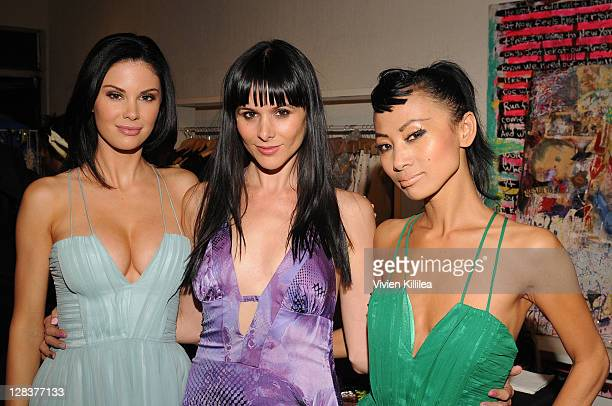 Jayde Nicole fashion designer Setorii Pond and Bai Ling attend Setorii Fashion Show 2012 Spring Collection on October 6 2011 at Em Co in Los Angeles...