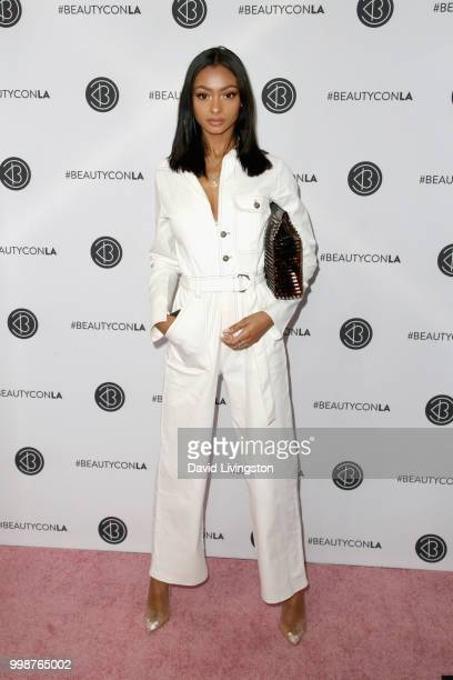Jayde Pierce attends the Beautycon Festival LA 2018 at the Los Angeles Convention Center on July 14 2018 in Los Angeles California