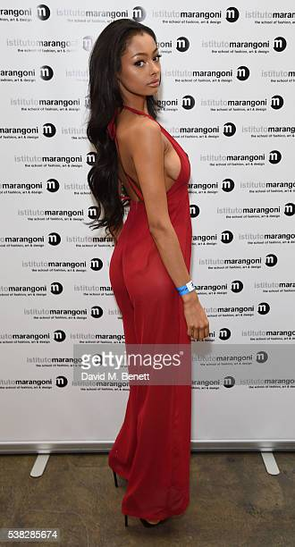Jayde Pierce attends the Istituto Marangoni GFW Show at The Truman Brewery on June 5 2016 in London England