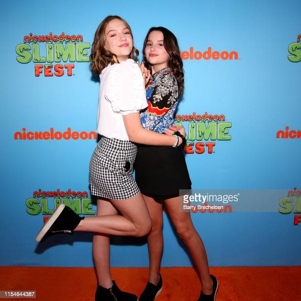 Jayden Bartels and Annie LeBlanc attend Nickelodeon's Second Annual SlimeFest at Huntington Bank Pavilion on June 08 2019 in Chicago Illinois