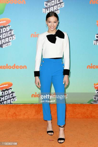 Jayden Bartels attends Nickelodeon's 2019 Kids' Choice Awards at Galen Center on March 23 2019 in Los Angeles California