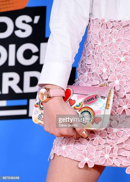 Jayden Bartels purse detail attends Nickelodeon's 2018 Kids' Choice Awards at The Forum on March 24 2018 in Inglewood California