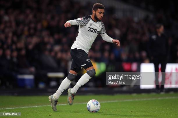 Jayden Bogle of Derby County during the Sky Bet Championship match between Derby County and Millwall at Pride Park Stadium on December 14, 2019 in...