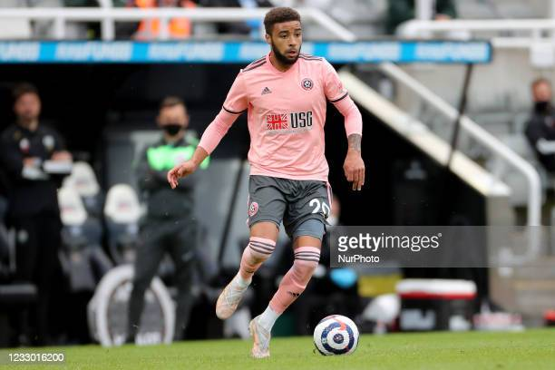 Jayden Bogle of Sheffield United during the Premier League match between Newcastle United and Sheffield United at St. James's Park, Newcastle on...
