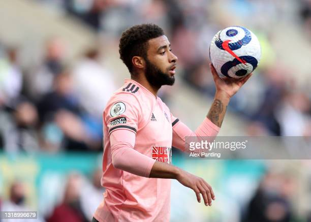 Jayden Bogle of Sheffield United during the Premier League match between Newcastle United and Sheffield United at St. James Park on May 19, 2021 in...