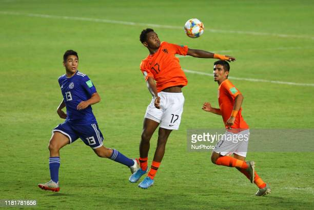 Jayden Braaf of Holland U17 controls the ball during the World Cup U17 match between Holland v Paraguay at the Estadio Kleber Andrade on November 10...