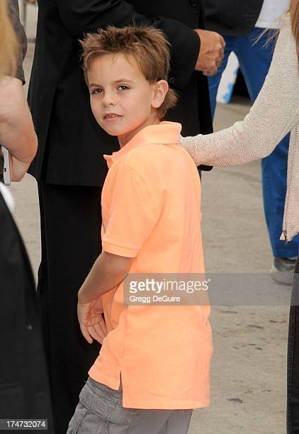 Jayden James Federline arrives at the Los Angeles premiere of Smurfs 2 at Regency Village Theatre on July 28 2013 in Westwood California