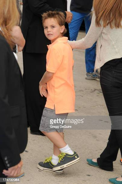 "Jayden James Federline arrives at the Los Angeles premiere of ""Smurfs 2"" at Regency Village Theatre on July 28, 2013 in Westwood, California."