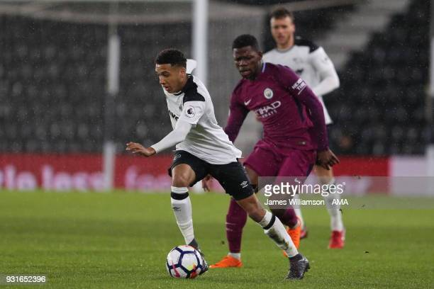 Jayden MitchellLawson of Derby County during the Premier League 2 match between Derby County and Manchester City on March 9 2018 in Derby England
