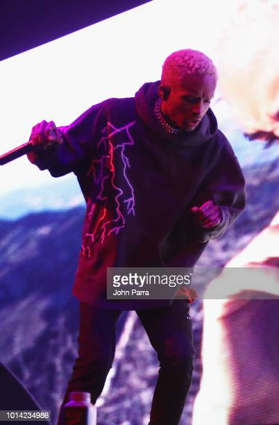 Jayden Smith performs on stage for J Coles KOD Tour Opener at American Airlines Arena on August 9 2018 in Miami Florida