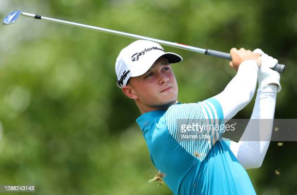 Jayden Trey Schaper of South Africa hits his tee-shot on the fifth hole during Day Three of the Alfred Dunhill Championship at Leopard Creek Country...