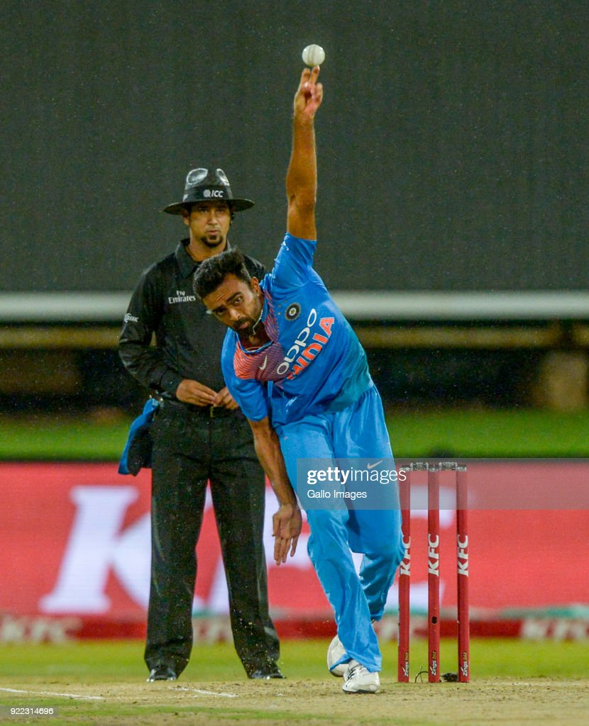 Jaydev Unadkat of India during the 2nd KFC T20 International match between South Africa and India at SuperSport Park on February 21, 2018 in Pretoria, South Africa.
