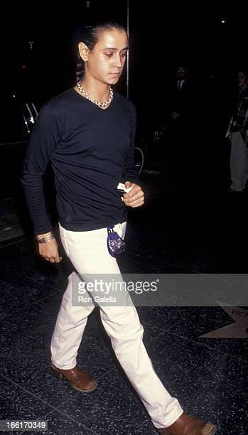 Jaye Davidson attends the premiere of Stargate on October 24 1994 at Mann Chinese Theater in Hollywood California