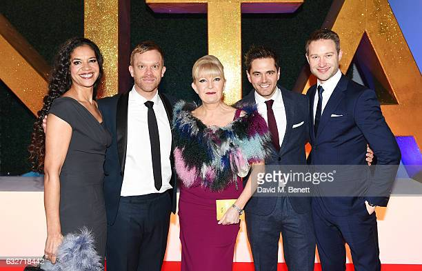 Jaye Griffiths Will Beck Cathy Shipton Michael Stevenson and Richard Winsor of Casualty attend the National Television Awards on January 25 2017 in...
