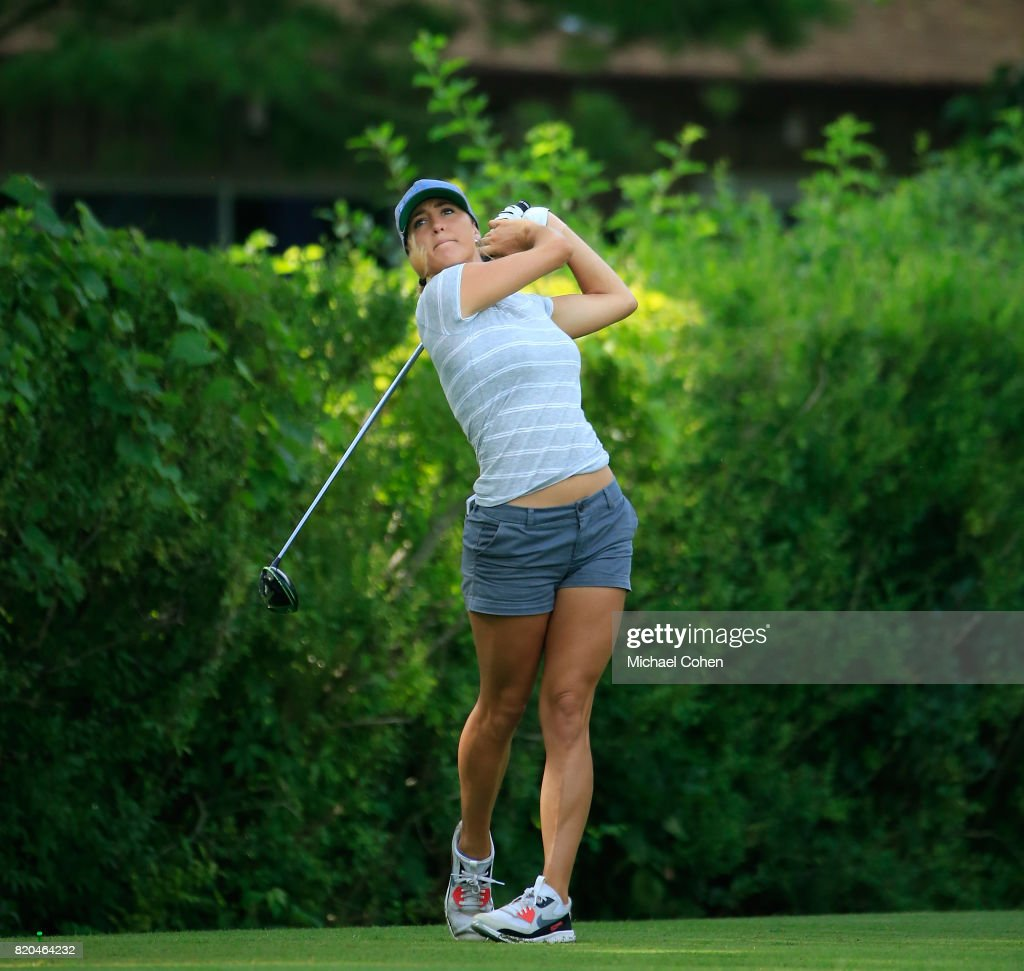 Jaye Marie Green hits her drive on the 16th hole during the second round of the Marathon Classic Presented By Owens Corning And O-I held at Highland Meadows Golf Club on July 21, 2017 in Sylvania, Ohio.