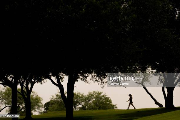 Jaye Marie Green of the United States walks from the first tee during the second round of the Volunteers of America North Texas Shootout at Las...