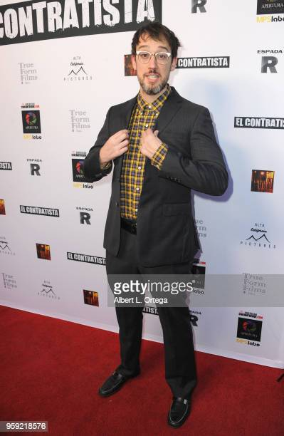 Jayk Gallagher arrives for the American Cinematheque And Apertura Showcase Present Screening Of El Contratista held at The Egyptian Theatre on May 15...