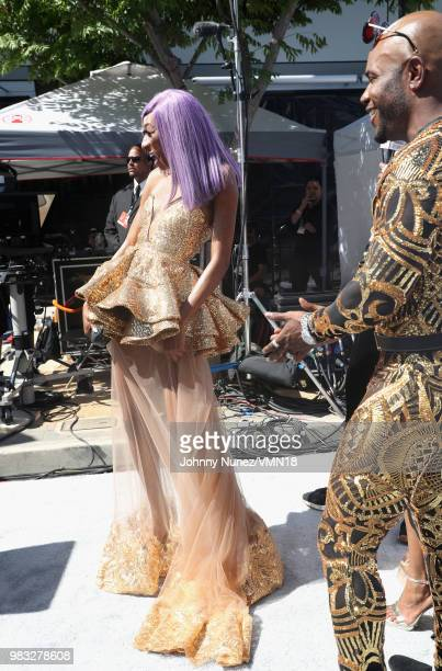 Jayla 'Lala' Milan and Milan Christopher are seen at the 2018 BET Awards at Microsoft Theater on June 24 2018 in Los Angeles California