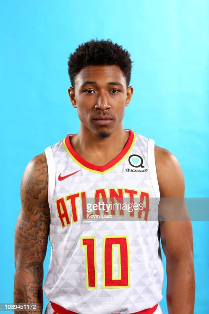 Jaylen Adams of the Atlanta Hawks poses for a head shot during the Atlanta Hawks Media Day on September 24 2018 at the Emory Sports Medicine Complex...