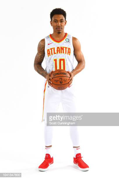 Jaylen Adams of the Atlanta Hawks poses for a portrait during the Atlanta Hawks Media Day on September 24 2018 at the Emory Sports Medicine Complex...